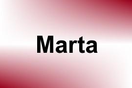 Marta name image