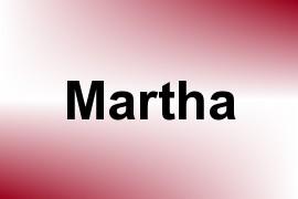 Martha name image