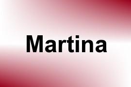 Martina name image