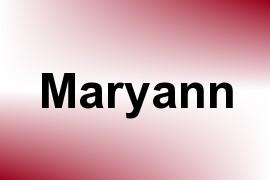 Maryann name image