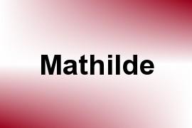 Mathilde name image