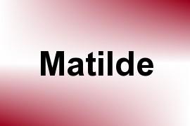 Matilde name image