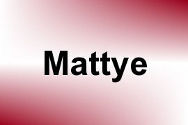 Mattye name image