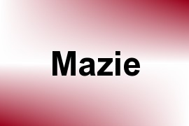 Mazie name image