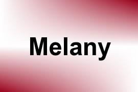 Melany name image
