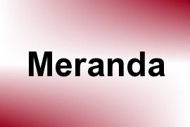 Meranda name image