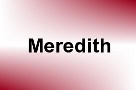 Meredith name image