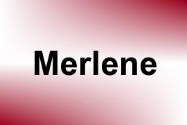 Merlene name image