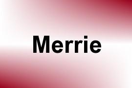 Merrie name image