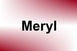 Meryl name image