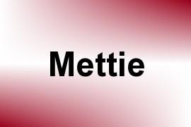Mettie name image