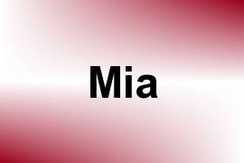 Mia name image