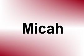 Micah name image
