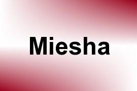 Miesha name image
