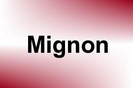 Mignon name image