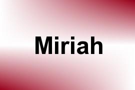 Miriah name image
