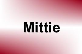 Mittie name image