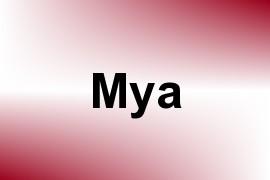 Mya name image