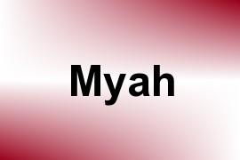 Myah name image