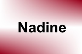 Nadine name image