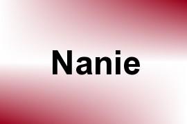 Nanie name image