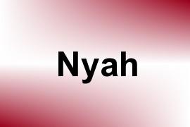 Nyah name image