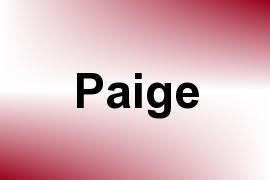 Paige name image