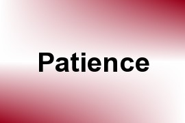 Patience name image
