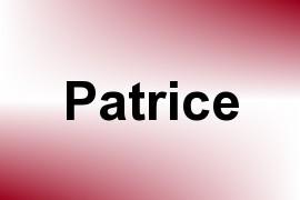 Patrice name image