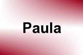 Paula name image