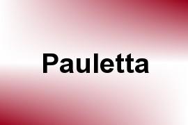 Pauletta name image