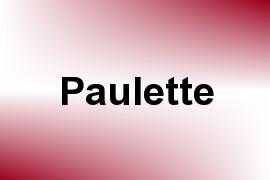 Paulette name image