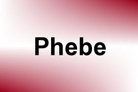Phebe name image
