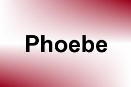 Phoebe name image