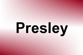 Presley name image