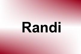 Randi name image