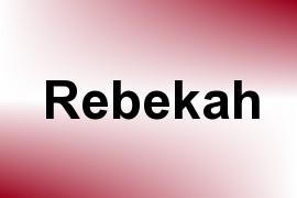 Rebekah name image