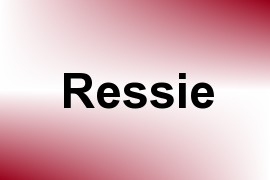 Ressie name image