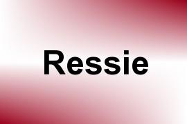 Ressie name image