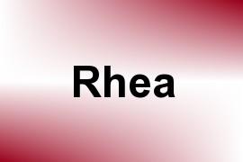 Rhea name image