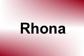 Rhona name image