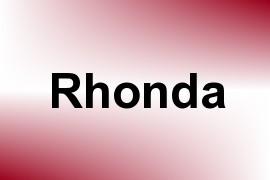 Rhonda name image