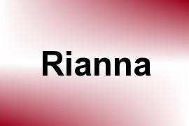 Rianna name image