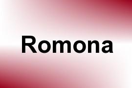 Romona name image