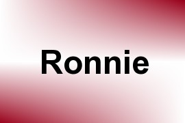 Ronnie name image