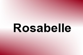 Rosabelle name image