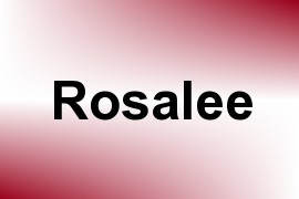 Rosalee name image