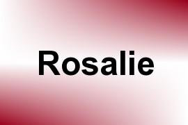 Rosalie name image