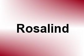 Rosalind name image