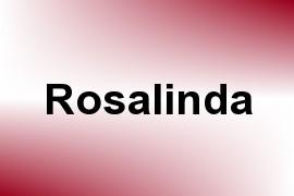 Rosalinda name image